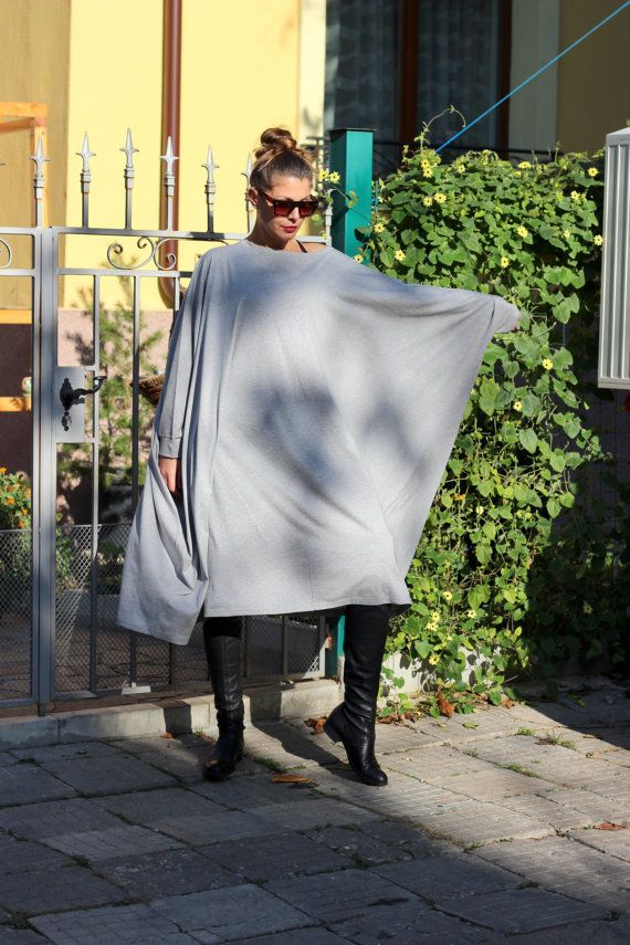 Grey XXXL XXXXL Plus size oversized cotton caftan dress/cover up dress / party dress / sundress/ everyday dress/evening dress