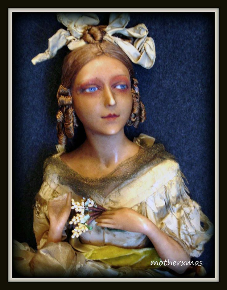 https://flic.kr/p/23m82Jc | beautiful french wax boudoir doll container | 1920's  wax  candy container