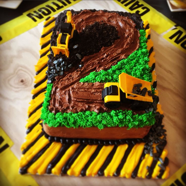 Two Year Old Construction Truck Birthday Cake! For Our Boy