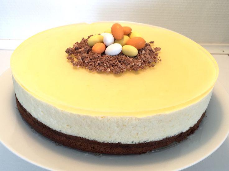 Chokoladekage med citronmousse