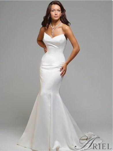 209e6f13db8f bridal gown high quality new mermaid formal sweetheart plain taffeta ...