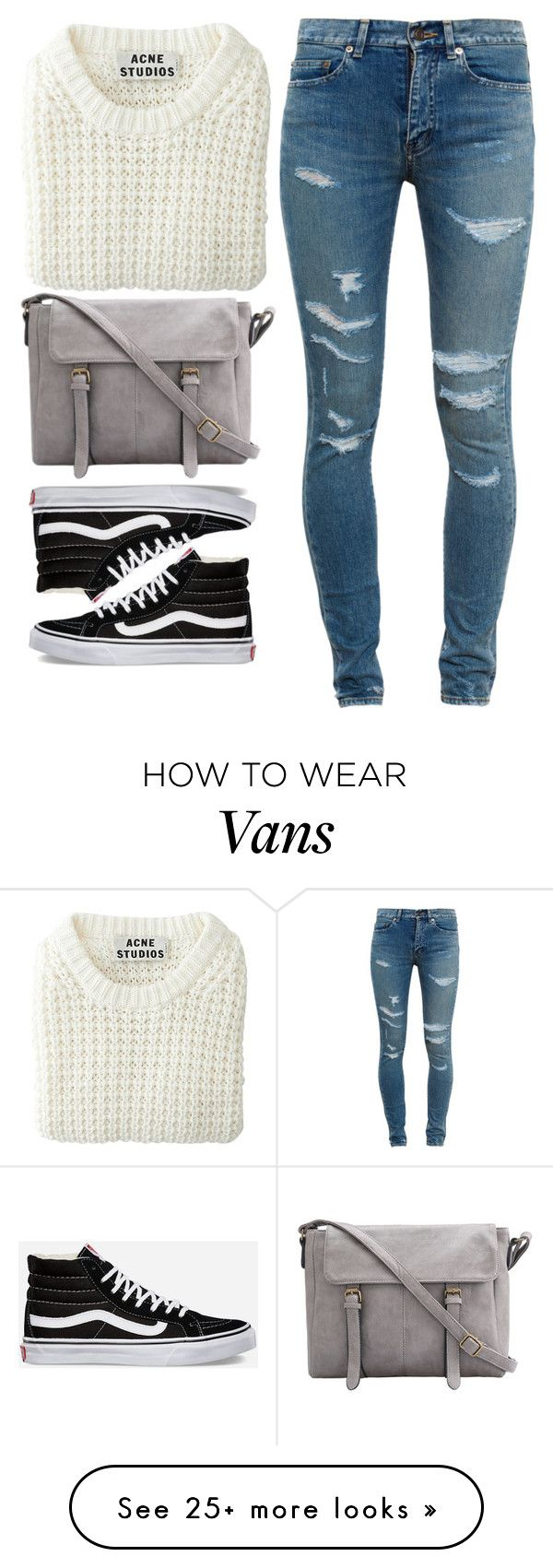 """""""Unbenannt #3508"""" by mund-tot on Polyvore featuring Yves Saint Laurent, Acne Studios and Vans"""