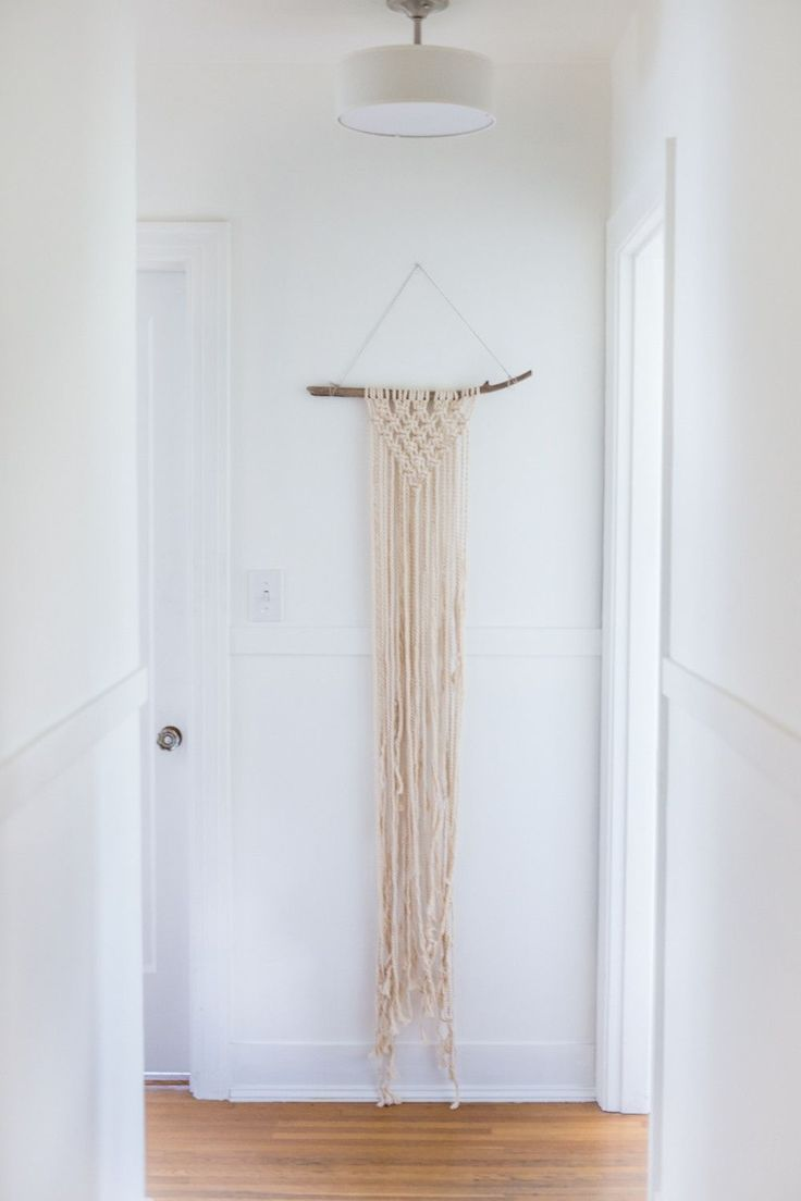 These beautiful macrame add a nice textural
