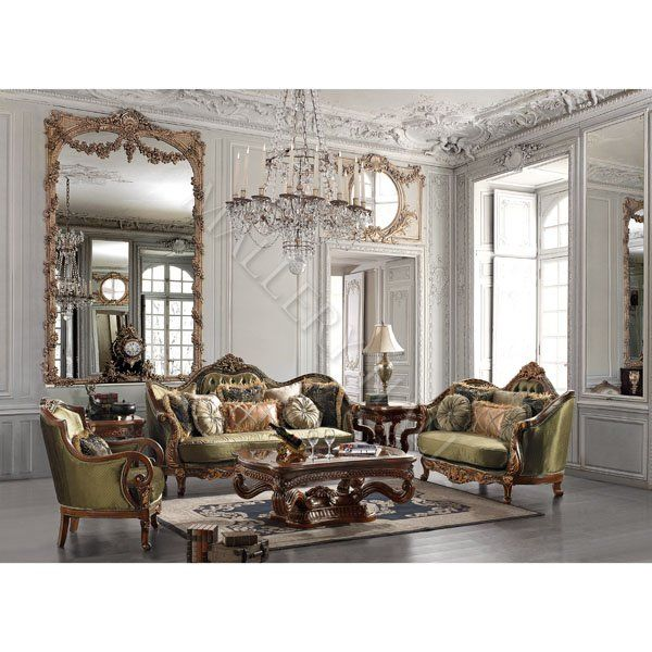 Sage Solid Hardwood Chenille Fabric 3 Pc Sofa Set Renaissance Seating Living Room Furniture Arrangement