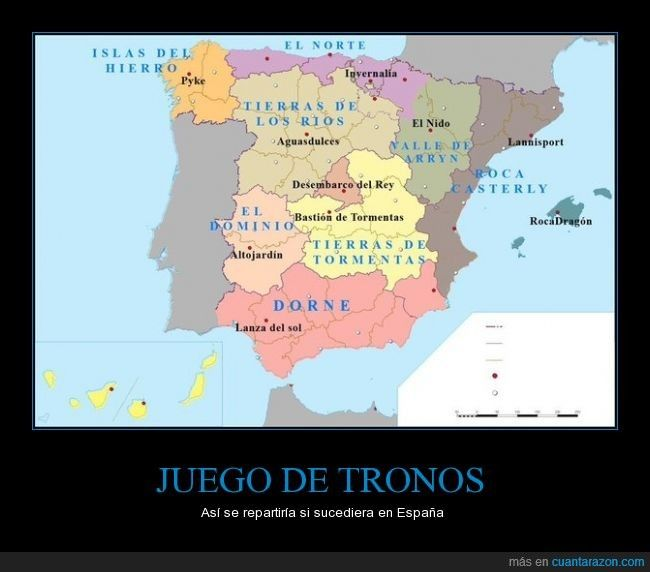 Cantando el tema de Juego de tronos mientras - Así se repartiría si sucediera en España   Gracias a http://www.cuantarazon.com/   Si quieres leer la noticia completa visita: http://www.estoy-aburrido.com/cantando-el-tema-de-juego-de-tronos-mientras-asi-se-repartiria-si-sucediera-en-espana/