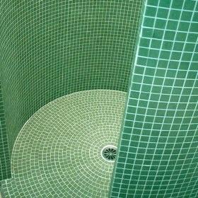 Badkamer mozaiek rond  Interieur  Pinterest