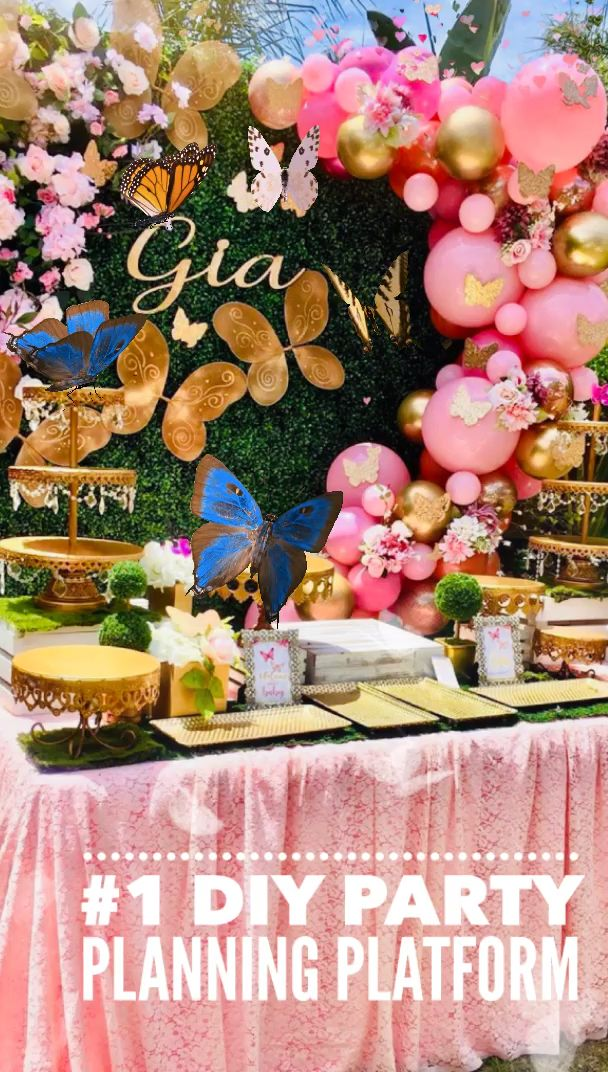 Lyfetymes 1 Mom S Party Planning Site Video In 2021 Butterfly Birthday Party Butterfly Birthday Party Decorations Fairy Garden Birthday Party