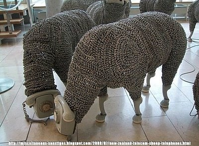 sheep made out of rotary telephone cords - so cool: A Mini-Saia Jeans, Art Sculpture, Jeans Luc Cornec, Telephone Sheep, Cardboard Art, Products Design, Cords, Old Phones, Frankfurt