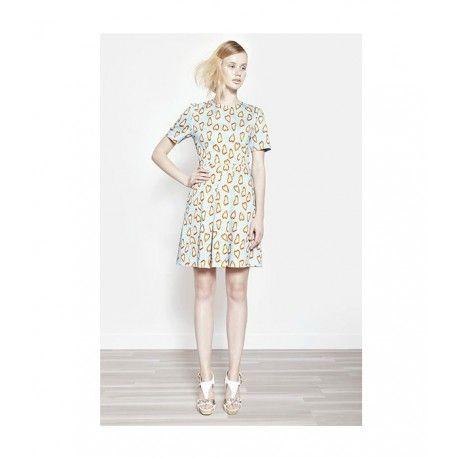 ABITO PROJECT 217 Abito da donna di Project 217 in cotone con stampa fantasia multicolore a cuori, plissettato sulla parte frontale con dettaglio in vita e due tasche laterali, chiusura a zip posteriore, maniche corte e girocollo, un capo d'ispirazione vintage, ideale per un look d'impatto ma anche versatile. #project217 #abiti #vestiti #abitidonna #abitiproject217 #vestitidonna #modadonna #donna #woman #dresswoman #dress #fashion #moda #shopping
