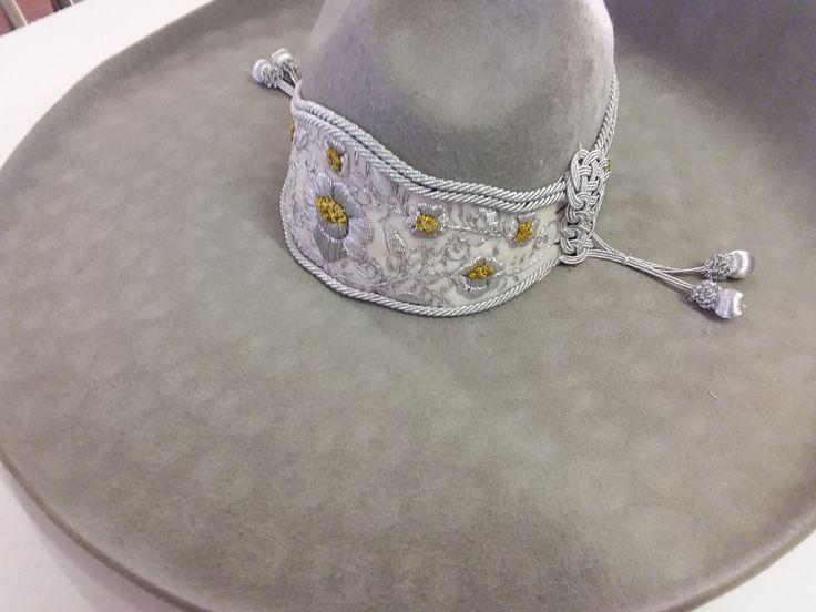 Sombrero Charro de Lana. Color Gris Claro 55 mex 6-7/8 usa