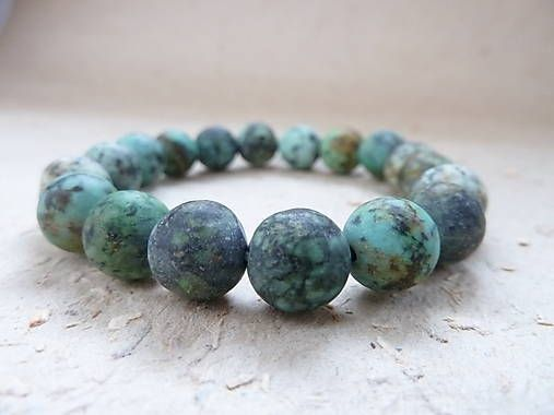 KetyS / náramek Natural ... Frosted African turquoise