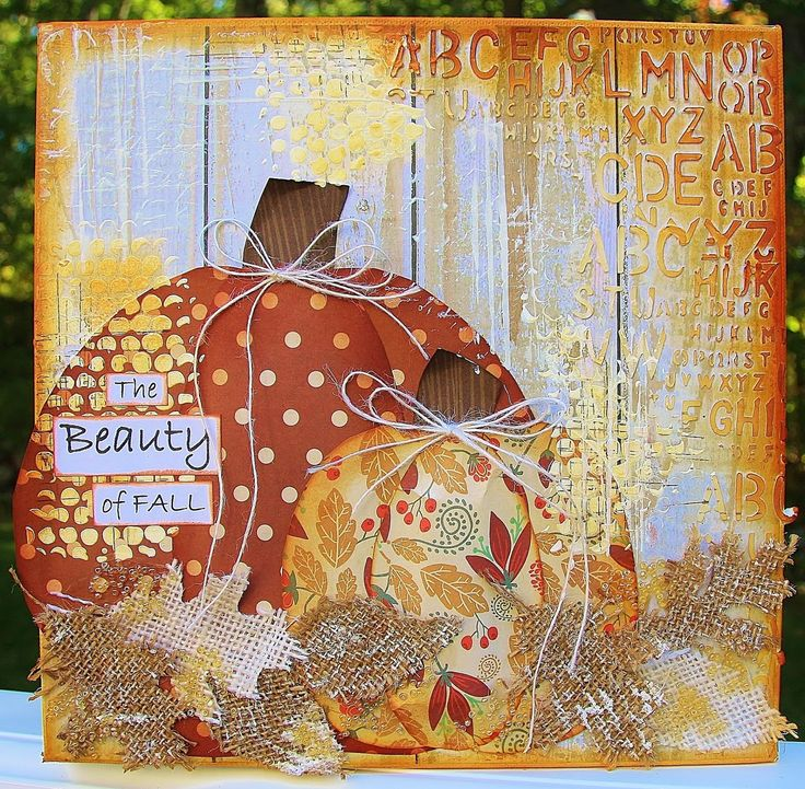 fall mixed media canvas just my style blog