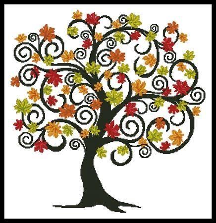 Autumn Tree Pattern