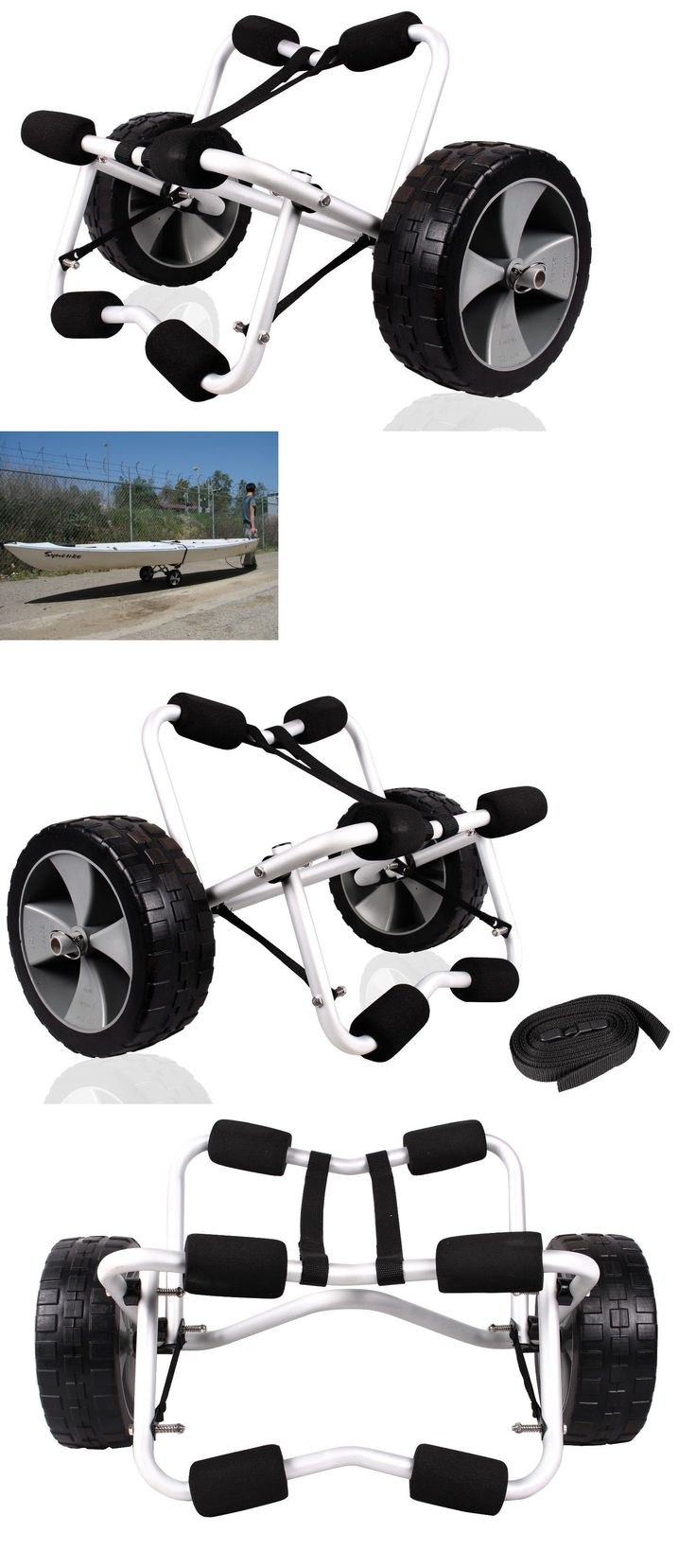Accessories 87089: Deluxe Boat Kayak Canoe Carrier Dolly Trailer Tote Trolley Transport Cart Wheels -> BUY IT NOW ONLY: $42.95 on eBay!