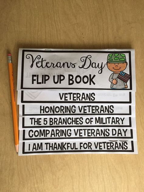 Veterans Day flip book that is engaging for students and easy to integrate for teachers! Kids LOVE them!!