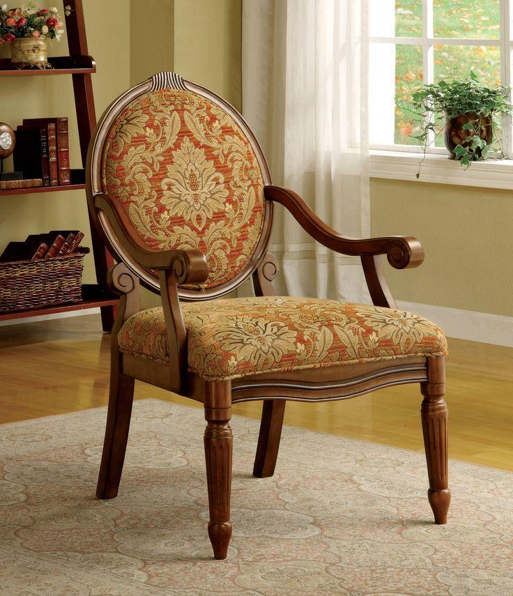 Aldwin Antique Oak Accent Chair