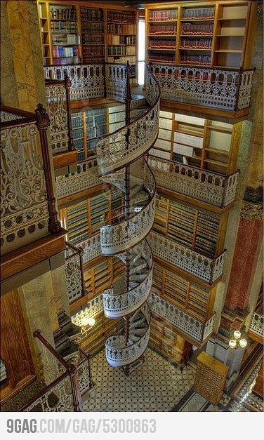 My house will have 4 giant towers like this.    At least: Desmoin, Dreams Libraries, Spirals Staircases, Spirals Stairs, Law Libraries, Book, Des Moin Iowa, U.S. States, The Beast