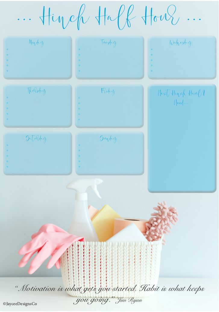 Mrs Hinch Printable Hinch Printable In 2020 Cleaning Schedule Cleaning Calendar Cleaning Schedule Printable