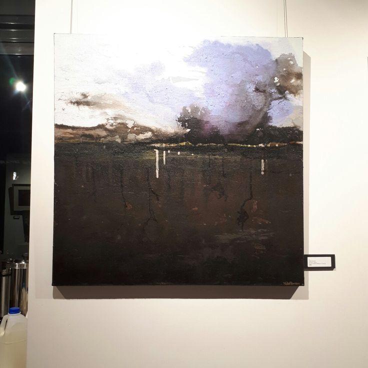 """Winter's Tempo"" 92 x 92 cm Mixed Media on canvas by Nidia Hansen 2017"