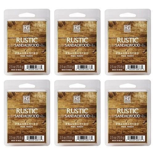 6-Pack Hosley's Rustic Sandalwood Essential Oils Scented Wax Cubes Melts Tarts | Home & Garden, Home Décor, Home Fragrances | eBay!