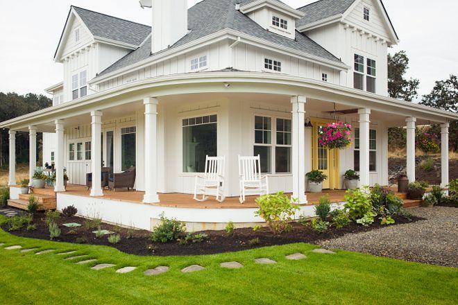 Wrap Around Porch Curved, Modern Farmhouse Plans With Wrap Around Porches