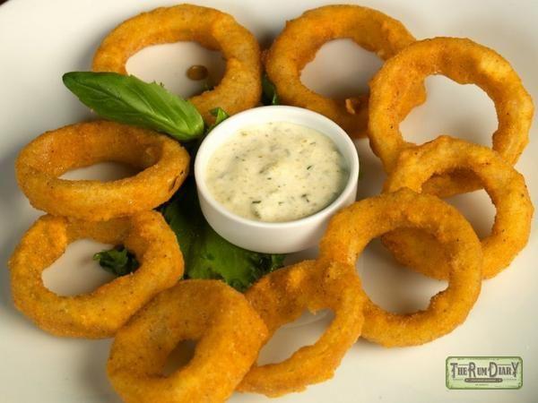 Луковые кольца в кляре + соус