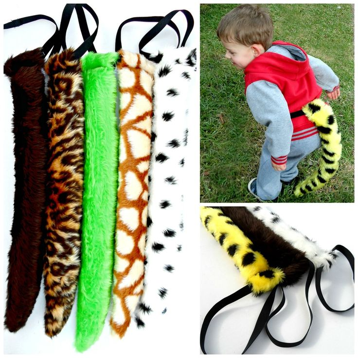 CHILDREN'S TAILS $15.00 Let their imaginations run wild and burn of lots of energy with these awesome tails.  Measuring approx 64 cm long and with a totally elastic waist they are sure to bring hours of fun.