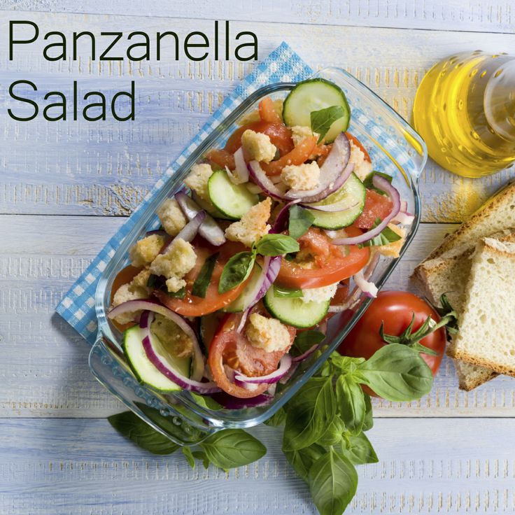 Lighten Up Lunch with this Panzanella Salad!