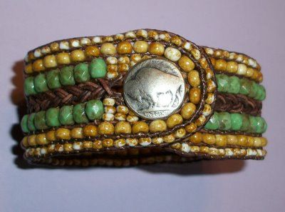 Braided and Beaded Leather Bracelet Tutorial PDF by 4petessake, $10.00