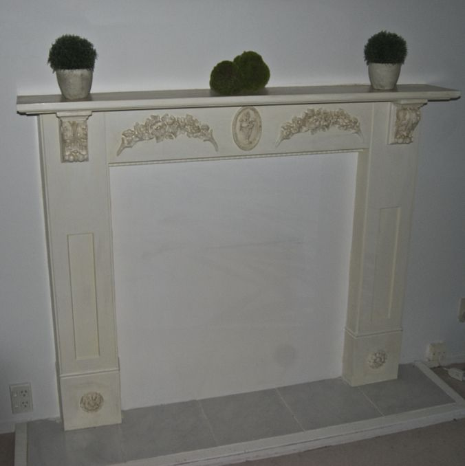 Faux Fireplace makeover.Before & Afters | China Grove NZ Creating