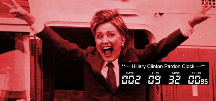 Live Countdown Clock. Hillary is running out of time for a pardon from President Barack Obama. Watch the time tick down. Hillary and President Bill Clinton are secretly negotiating framework for a …