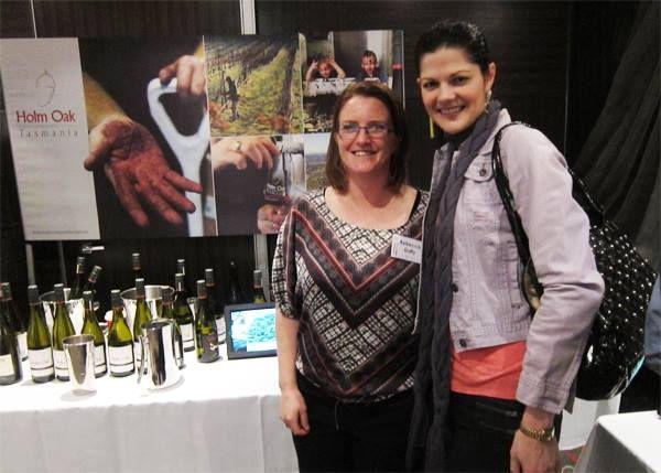 With Bec Duffy from Holm Oak Vineyards in Tamar Valley at Tasmania Unbottled in Brisbane, 2013.