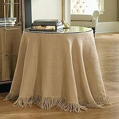VCTRY's BLOG: Como hacer un mantel de arpillera, sin coser, muy ...