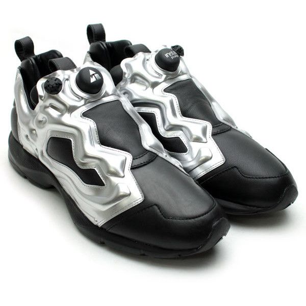 VERBAL x Reebok Pump Fury HLS Black Silver ❤ liked on Polyvore
