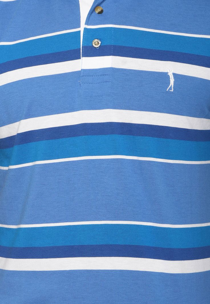 Camisa Polo Aleatory Logo Azul/Branca - Marca Aleatory