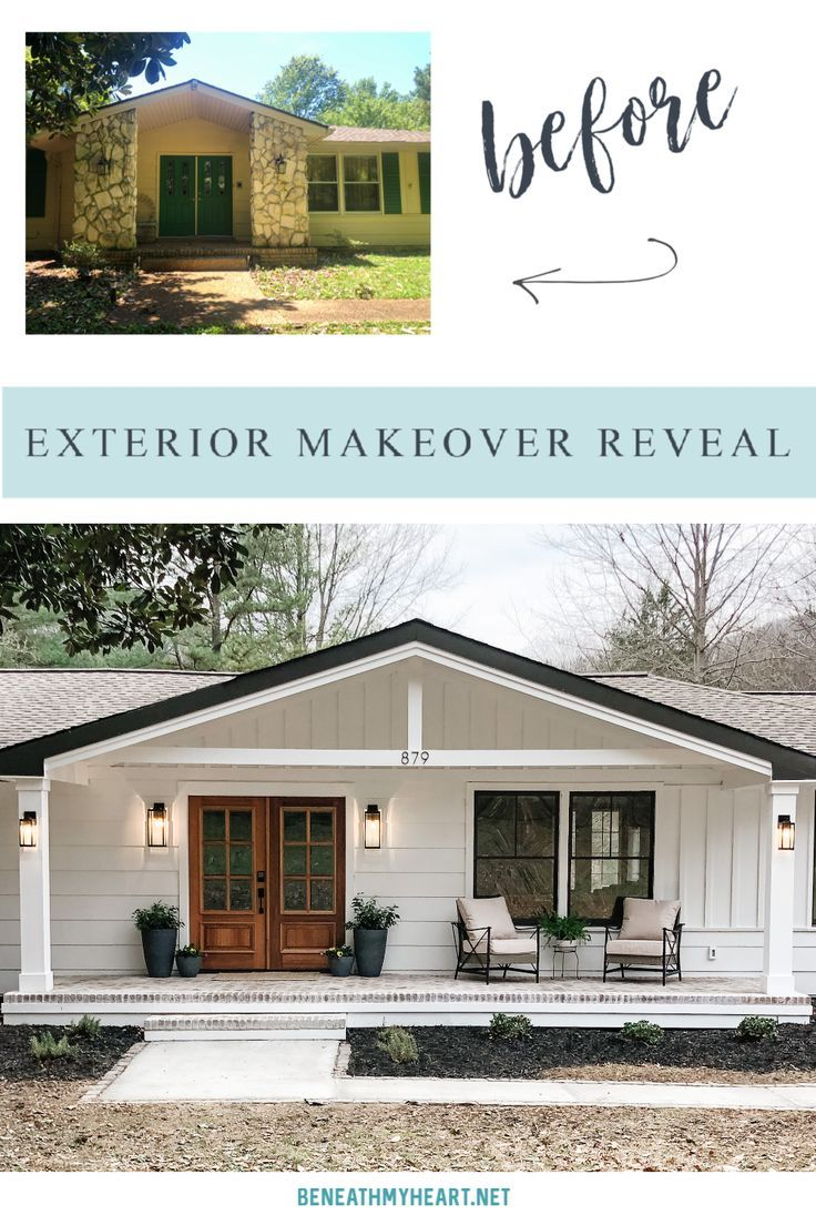Exterior Makeover Reveal Notes From Home Beneath My Heart