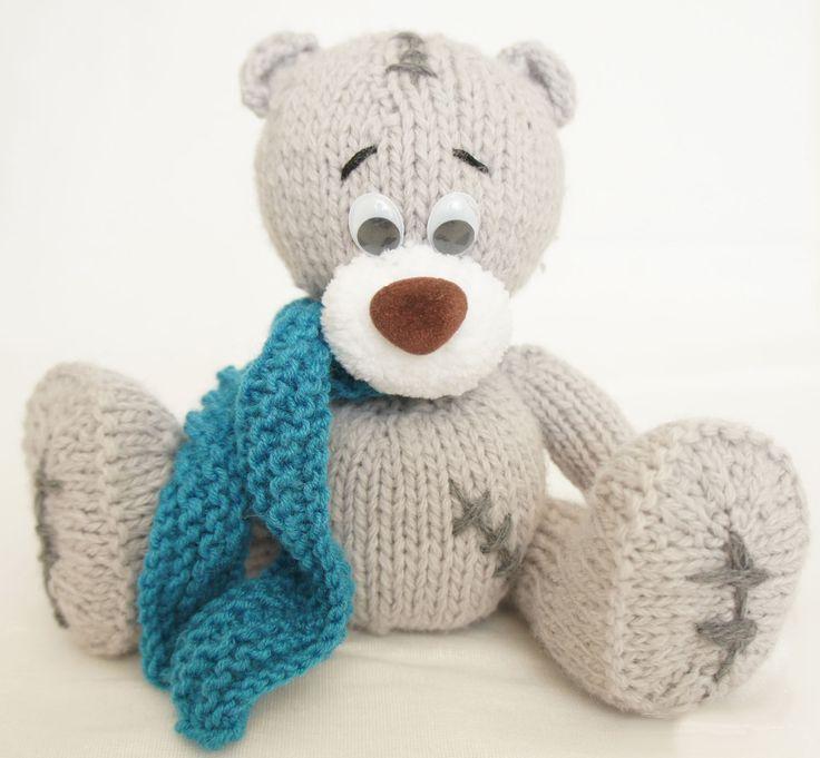 Мастер-класс по вязанию медвежонка спицами