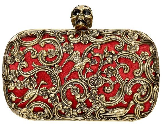 Alexander Mcqueen clutch  This is not just fashion, it's actually a piece of art.