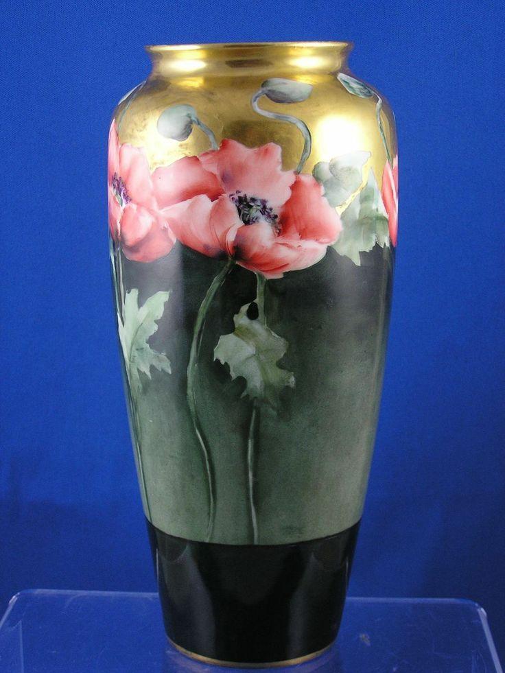 131 best images about porcelain art poppies tulips on pinterest antiques porcelain vase and. Black Bedroom Furniture Sets. Home Design Ideas