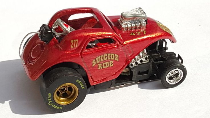 Fiat Topolino Altered Drag Car. Custom Slot Car, HO DRAG RACING NHRA