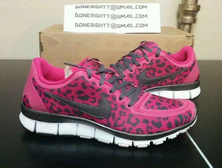 Nike Free 5.0 v4 TR Run Shoe Roshe Cheetah Leopard Fireberry