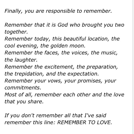 From My Best Man's Speech. Remember To Love. #love