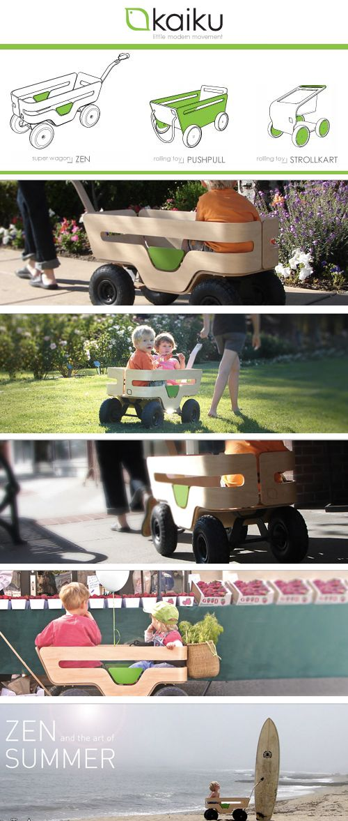 Kaiku: Aesthetically Beautiful Hand Built Wagons U0026 Rolling Toys