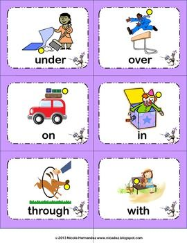 Preposition Palace- Concept Cards and Writing Activity- Pr