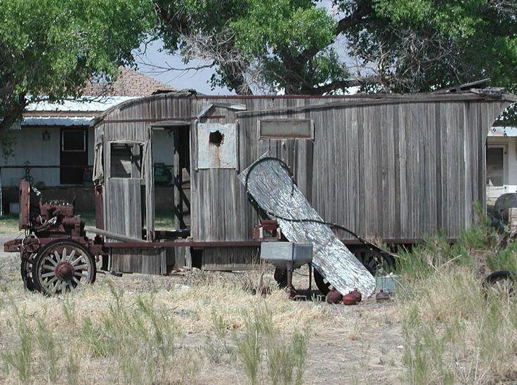 Vintage hausgemachte Camper Fotos