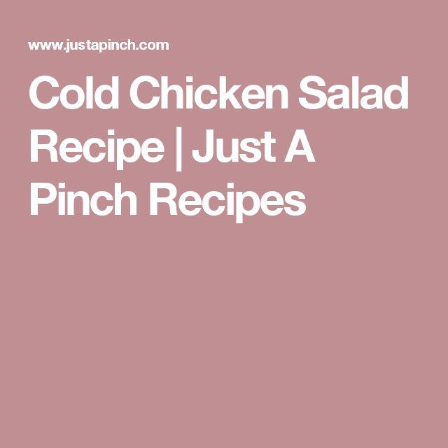 Cold Chicken Salad Recipe   Just A Pinch Recipes