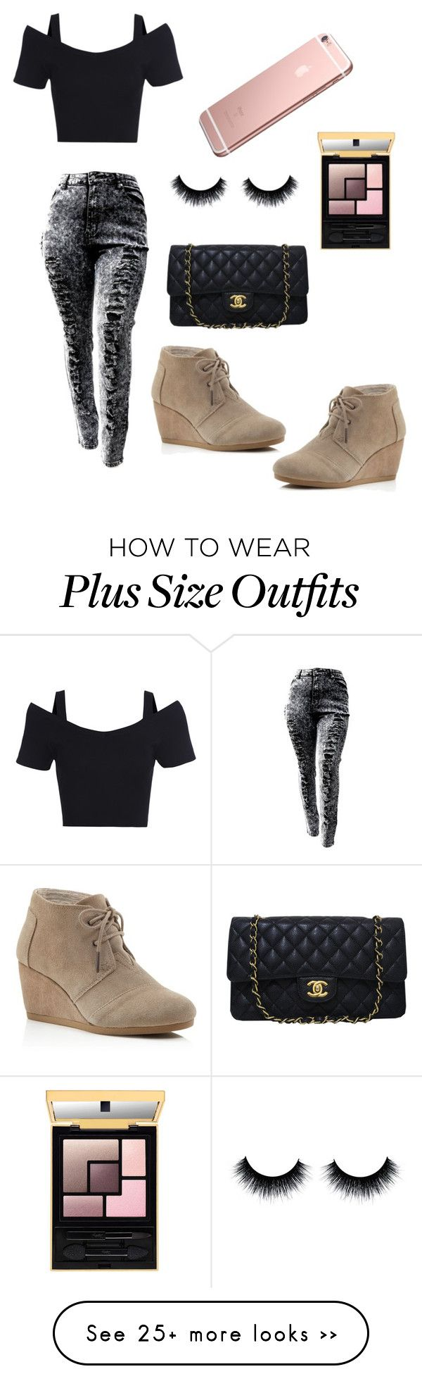 """""""........?"""" by jhanny21 on Polyvore featuring TOMS and Chanel"""