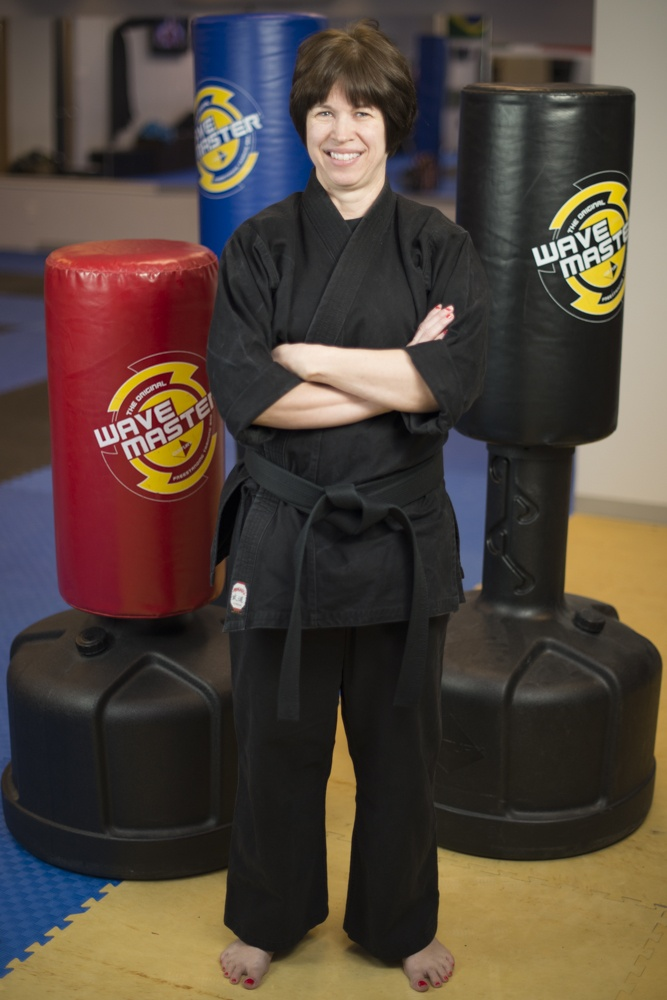 Sensei Lynn Jennyc, owner, certified instructor, 2nd degree black belt