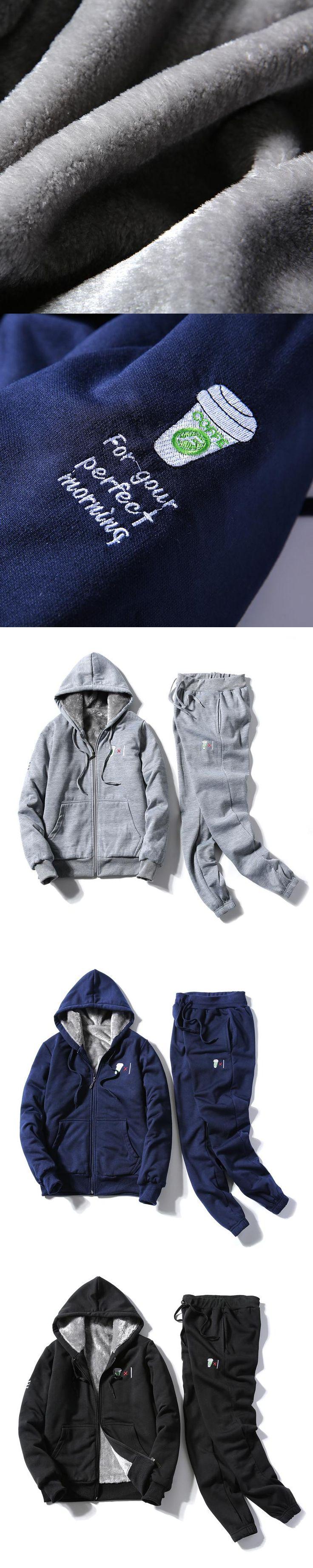 Warm Winter Hoodie Sweatshirt Branded Tracksuits Sportswear Men Mens Fleece 2pac Hoodie Pants Sportingsuit for Men Plus Size 4XL