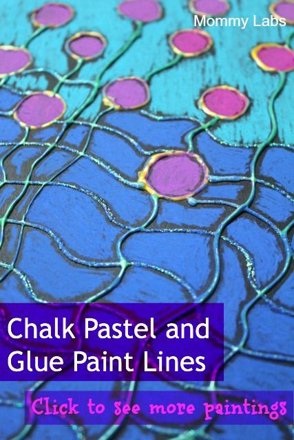 Chalk Pastel Glue Paint Lines Style of Great Artist Ted Harrison